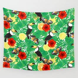 Tropical garden Wall Tapestry