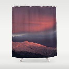 Lenticular clouds over Caballo mountain. Sierra Nevada National Park Shower Curtain