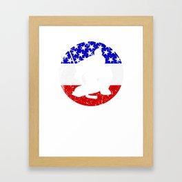 American Flag Hockey Framed Art Print