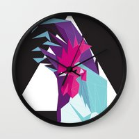 rooster Wall Clocks featuring Rooster by Sudário