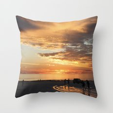 sunset over Broome Throw Pillow