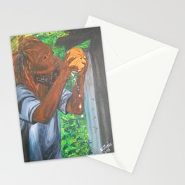 Drinking a Coconut Stationery Cards