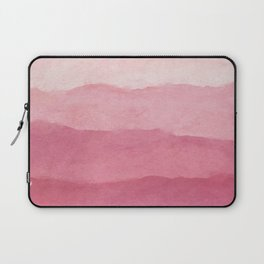 Ombre Waves in Pink Laptop Sleeve