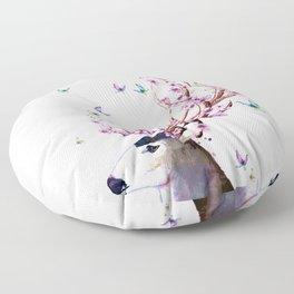 Deer and Flowers II Floor Pillow
