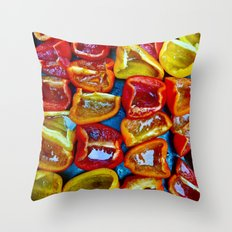 Peppers! Throw Pillow