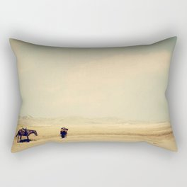 Bushiribana Horses At Play Rectangular Pillow