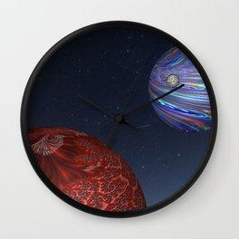 Earth From Mars Wall Clock
