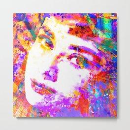 Colorful Life, Audrey Hepburn Metal Print