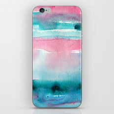 Turquoise love iPhone Skin