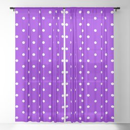 Dotted (White & Violet Pattern) Sheer Curtain