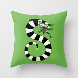 Sand Worm Throw Pillow