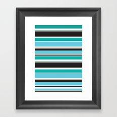 Vivid Stripes Framed Art Print
