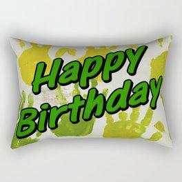 happy birthday greeting Rectangular Pillow