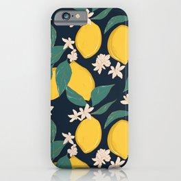 Lemon bloom iPhone Case