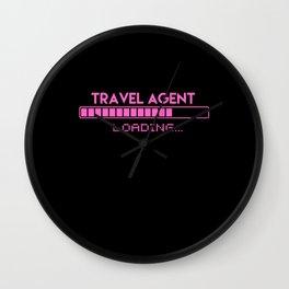 Travel Agent Loading Wall Clock