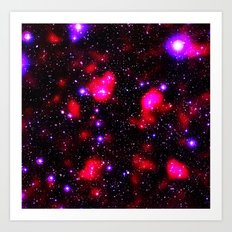 GALAXY Purple & Fuchsia Hot Pink Art Print