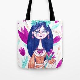 Miss Tulip Tote Bag