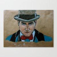 boardwalk empire Canvas Prints featuring Arnold Rothstein (Boardwalk Empire) by Bina Leo Dwyer