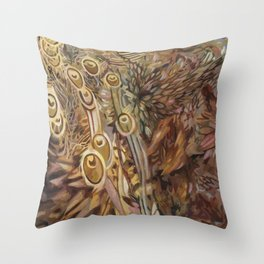 Feathers Glump Throw Pillow