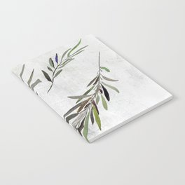 Eucalyptus Leaves White Notebook