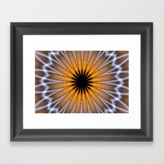 Golden Brown with a Twist Framed Art Print