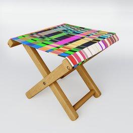 inclined coloured stripes Folding Stool