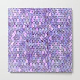 Mermaid Lilac Metal Print