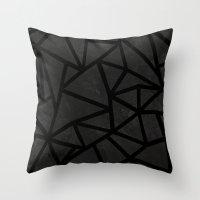Ab Marble Zoom Black Throw Pillow