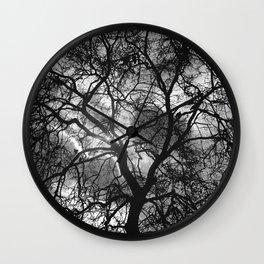 Dramatic London Tree Silhouette Wall Clock