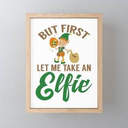 But First Let Me Take An Elfie for Elf Lover Framed Mini Art Print