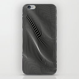 Minimal curves black iPhone Skin
