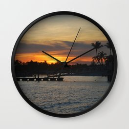 Sentosa Sunset Wall Clock