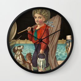 The pride of the harbor, 1874 Wall Clock