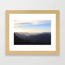 Sunset at the Grand Canyon Framed Art Print