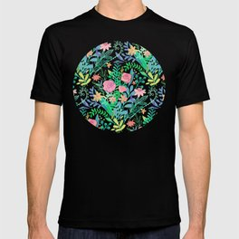 Roses + Green Messy Floral Posie T-shirt
