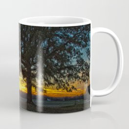 Columbia Va. Sunset in Oil Coffee Mug