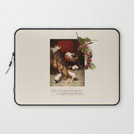 Pet Lover Christmas Greeteengs Laptop Sleeve