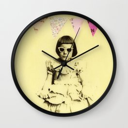 """""""Partially Amused"""" Wall Clock"""