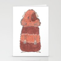 guinea pig Stationery Cards featuring Guinea Pig by L9huis