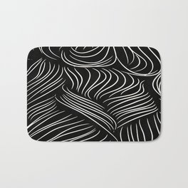 Abstract Lines - Tussled Hair TopKnot Bath Mat