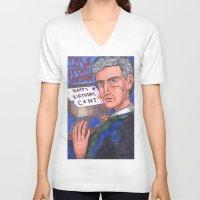birthday V-neck T-shirts featuring Birthday by Anna Gogoleva
