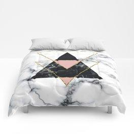 Geo glam marble Comforters