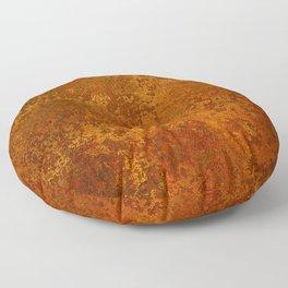 Vintage Copper Rust, Minimalist Art Floor Pillow