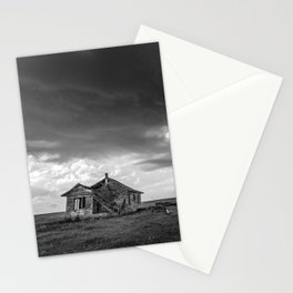 Sweeping Down the Plains - Abandoned House and Storm in Oklahoma Stationery Cards