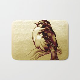 Sparrow in the Cold Bath Mat