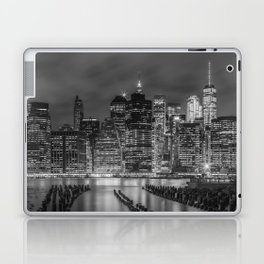 NEW YORK CITY Monochrome Night Impressions | slim panoramic Laptop & iPad Skin