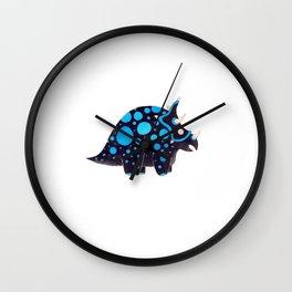 Torosaurus black and blue Wall Clock