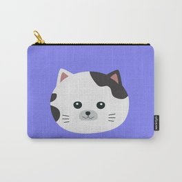 White Cat with spotted fur Carry-All Pouch