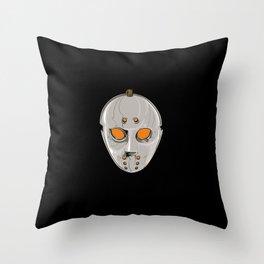 Hockey Goalie Mask Throw Pillow