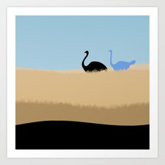 Ostrich Original Design Art Print